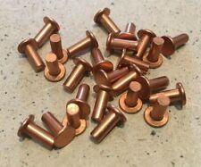 1/8 inch dia x 5/16 long Flat Head Copper Rivets.