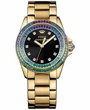 NIB Juicy Couture Women's 1901209 Stella Analog Display Quartz Gold-Tone Watch