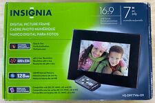 "Insignia 7"" Widescreen LCD Digital Photo Frame - Black New"