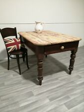Antique french style Rustic Antique Solid Pine Farmhouse Kitchen Dining Table