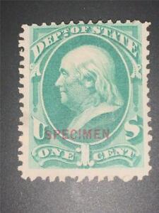USA Stamps Collection Scott#O57S Unused LH Benjamin Franklin NG  Specimen