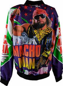Macho Man Randy Savage Green Orange Chalkline WWE Fanimation Jacket