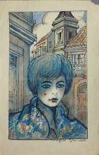 Dessin original de Angelo GRISCELLI (1893-1970) illustration vers 1930