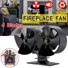 Heat Powered 8 Blade Mini Stove Top Burning Fan Fireplace Wood Log Fire Burner