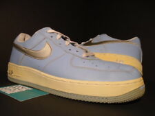 2004 NIKE AIR FORCE 1 LOW BLUE CAP SILVER WHITE 307109-401 12 10.5