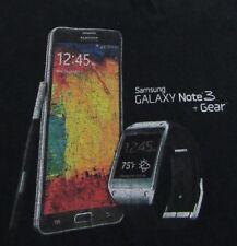 Samsung Galaxy Note 3 + Gear Smartphone Tech Geek Souvenir Black T Shirt Size S