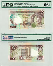 Malaysia $20 P#30 (1989) PMG 66 EPQ
