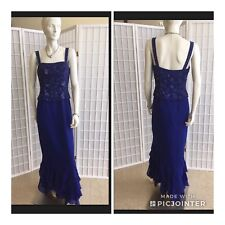 Cameron Blake By Mon Cheri Brand New Blue decorated Size 8