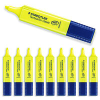 Staedtler Textsurfer Classic Highlighter Pen - Yellow - Pack of 10 - 364-1