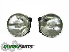 2000-2006 JEEP WRANGLER RIGHT & LEFT SIDE HEADLIGHT LAMPS SET NEW MOPAR GENUINE