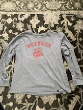New listing Wisconsin Badgers 47 Brand L/S Grey Shirt Mens Size L