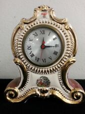 Antique ? Porcelain Oxford Spinning Metal 60 Clock Untested Maybe Rare Vintage ?