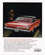 1965 Ford Galaxie 500/XL Red 2-door Hardtop Automobile Car Vtg Print ad