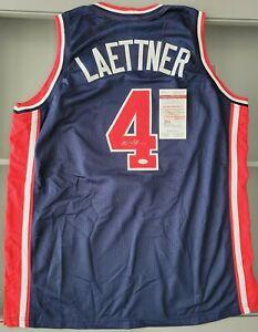 Christian Laettner SIGNED #4 USA Dream Team jersey (JSA COA)