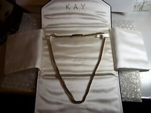 """KAY JEWELERS MEN'S FOXTAIL CHAIN NECKLACE YELLOW ION PLATED STAINLESS STEEL 22 """""""