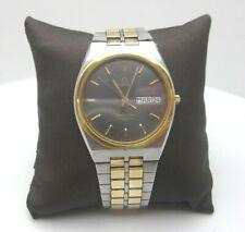 Vintage Omega Swiss Seamaster Quartz 7 Jewels Analog Casual Clasp Watch