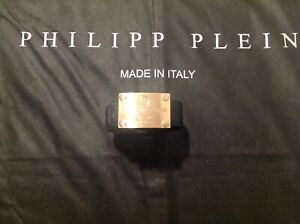 Philipp Plein Gürtel 120 cm goldene Schnalle
