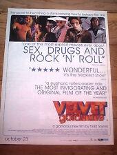 VELVET GOLDMINE film 1998 UK Poster size Press ADVERT 14x12 inches