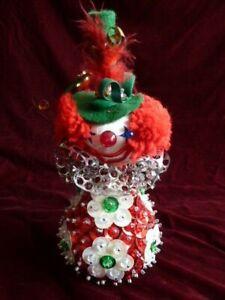 Vintage Gena  Clown Collectors Christmas Ornament Juniper 1973