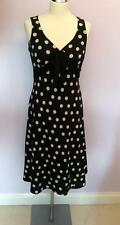 KALIKO BLACK & WHITE SPOT DRESS SIZE 10