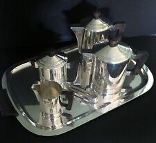 "French Art Deco 6-Piece Coffee/Tea Service by Ercuis – ""Saigon"" Model - 1934"