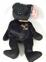 "TY BEANIE BABIES ""THE END"" BLACK BEAR 1999 MINT CONDITION INCLUDING TAGS"
