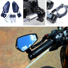 "MOTORCYCLE CNC 7/8"" HANDLE BAR END REARVIEW MIRRORS CAFE RACER BOBBER CLUBMAN"