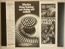 9/1979 PUB FN HERSTAL ARMES DE DEFENSE / DYNAMIT NOBEL AMMUNITIONS ORIGINAL AD