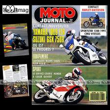 MOTO JOURNAL N°962 SUZUKI GSXR 750 YAMAHA FZR 1000 HARLEY XLH 1200 SPORTSTER MGC