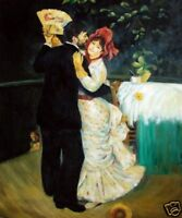 Quality Oil Painting Repro Renoir, Pierre-Auguste Country Dance, 1883 20x24in