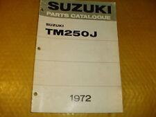 SUZUKI TM250 TM 250 J GENUINE PARTS MANUAL