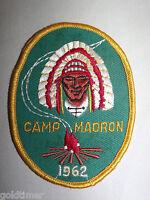 VINTAGE BSA BOY SCOUT PATCH 1962  CAMP MADRON