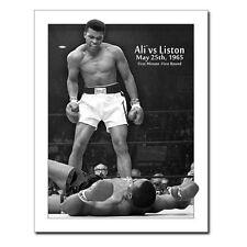 Vintage Replica Tin Metal Sign Muhammad Ali fight liston boxing boxer glove 1773