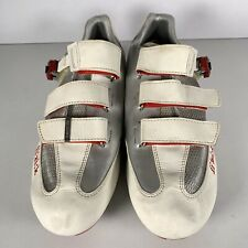 Fizik R5 Uomo Racing Shoes White/Grey Model 2015 Made in Italy Size UK 10 EUR 44