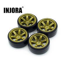 4PCS Wheel Rim Tire for 1/10 RC Drift Traxxas Tamiya HPI Kyosho On-Road Drifting