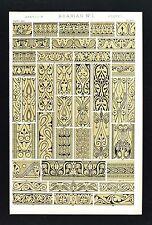 1868 Owen Jones Ornament Print Arabian No 1 Mosque of Tooloon Cairo Architecture