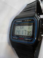 Reloj Pulsera Reloj Casio F 91W Digital Alarma Luz Cronógrafo Cronómetro Water Res