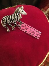 Huge Betsey Johnson Silver Zebra Ring