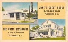 Florence South Carolina Jones Guest House Multiview Antique Postcard K41046