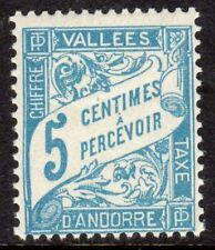 Andorra, French Administration Scott #J17 F/VF MNH 1937 5 C Postage Due