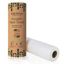 Reusable Paper Towels Bamboo 100% 32 Sheets - Zero Waste Unpaper Towel Eco - -