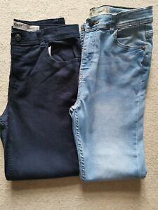 Denim Co Boys 2 pair light blue and navy Denim Straight Jeans Size 12-13 Years