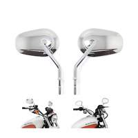 Chrome Motorcycle Mirrors Harley Davidson XL 883 1200 48 Touring cruiser fatboy