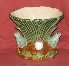 """Glazed Frog Vase Earthenware Stoneware - Ceramic - 7.5"""" x 9"""" x 7"""" Free Shipping"""