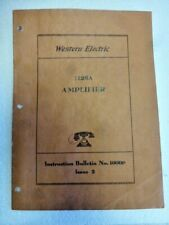 Original Western Electric 1126A Limiting Limiter Amplifier Instruction Manual  !