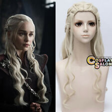 70cm Anime Game of Thrones Daenerys Targaryen Dragon Princess Blonde Cosplay Wig