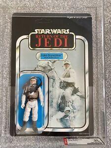AFA Graded 90 Star Wars ROTJ Luke Skywalker Hoth Battle Gear MOC Palitoy 65 Back