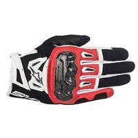Alpinestars Men SMX-2 AIR CARBON V2 Red Short SUMMER Motorcycle Gloves - Display