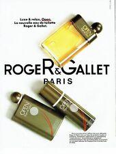 PUBLICITE ADVERTISING 037  1986  eau de toilette homme Open déodo Roger & Gallet