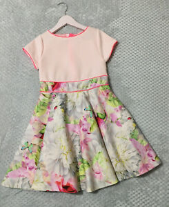 Girls Ted Baker Pretty Floral Dress, Age 9 Years.